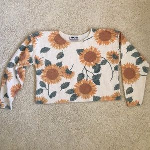🌻VINTAGE CROP TOP🌻 Sunflower Sweater